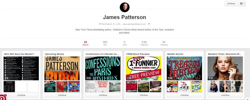 JamesPattersonPinterest
