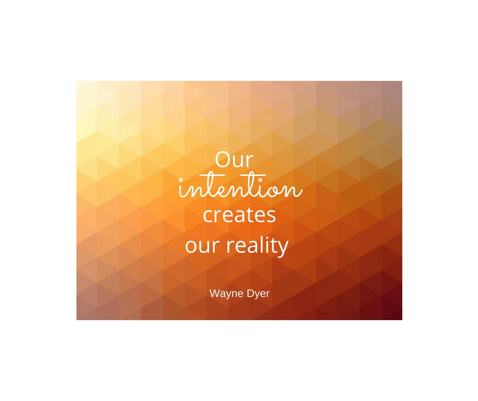 Our intention